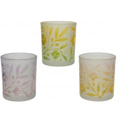 Bright and summery T-light holders that will bring a pop to any home space or garden.