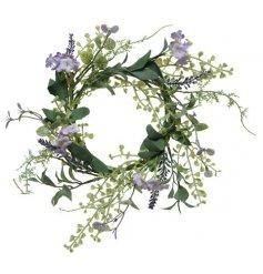Artificial Lavender Wreath, 30cm