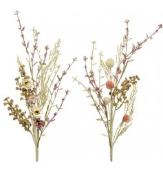 A beautiful mix of artificial wild flowers and grasses in pastel colours.