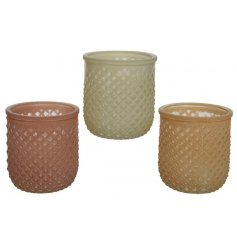 Patterned T-Light holders, can hold a votive or candle too!