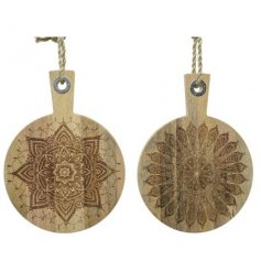 Two Assorted Mango Wood Round Chopping Board