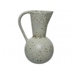 A beautifully glazed jug in neutral colours, perfect for complimenting many interior styles.