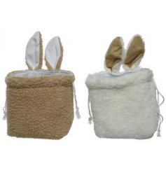 Two Assorted Bags With Bunny Ears and Pompom Tails