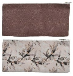 Two Assorted Leaf and Wave Designed Bags