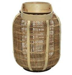 Hessian And Wood Lantern