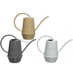 3 Assorted Coloured Watering Can Planters