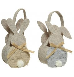 2 Assorted Design Baskets In The Shape Of A Rabbit