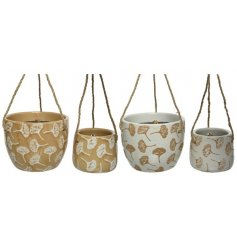 2 Different Sets Of Hanging Planters With Dandelion Design - 2 Assorted Colours