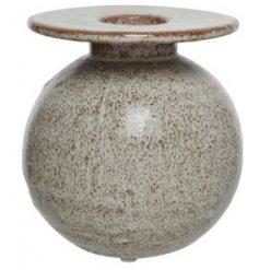 Round Vase in Stoneware, 14cm