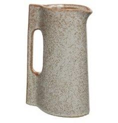 A Kettle Style Stoneware Vase in Reactive Glaze, 20.5cm