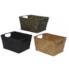 An Assortment of Three Baskets in Sea Grass, 12cm
