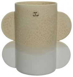 A Decorative Vase in Grey/Beige Two Tone, 19.5cm