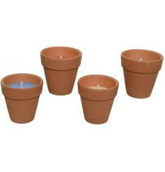 Keep the bugs at bay with these citronella candle pots in your garden.