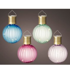 Hang these up in the garden to provide a touch of elegance, colour and extra light for your evenings