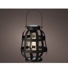 A black metal lantern, inspired by the industrial trend