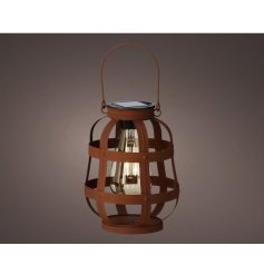 A rusted effect lantern, inspired by the industrial trend