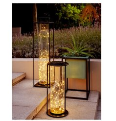 Warm white light lanterns to add some additional light once the sun goes down in your garden