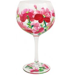 Poppies Summer Glass, 22cm