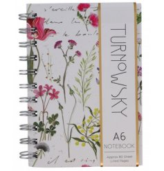 Delicate Floral Notebook A6