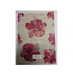 Bound journal with Pink Daisy decorative design