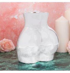 Silver Body Vase, 23cm