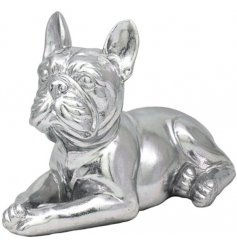 Silver Art French Bulldog Laying
