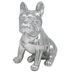 Silver Art French Bulldog Sitting