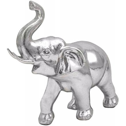 Silver Art Standing Elephant, 23cm