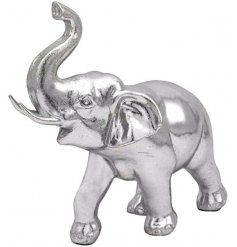 Charming silver elephant to compliment any living room