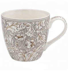 A Vintage Inspired Breakfast Mug in Floral Design