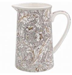 A Charming Ceramic Jug in Floral Design