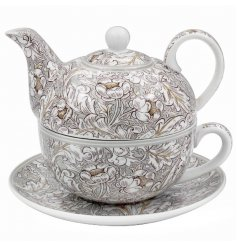 A Traditional Styled Teapot with Saucer