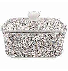 A Neutral Toned Ceramic Butter Dish