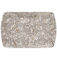 A Charming Small Tray With Floral Decal