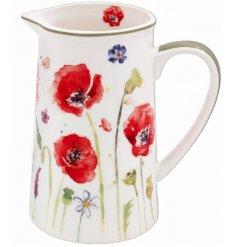 Poppy Design Floral Jug