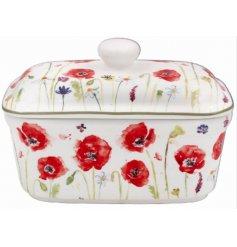 Poppy Design Floral Butter Dish