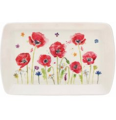 Small Tray With Poppy Design