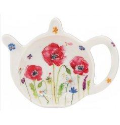 Teabag Tidy With Poppy Design