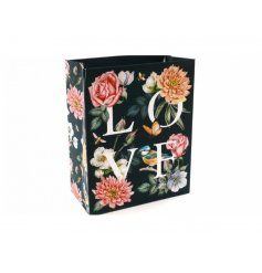 Floral Gift Bag With Love Wording