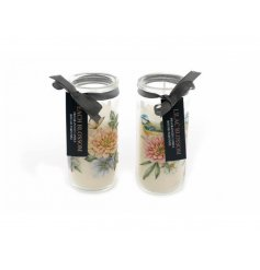 Floral Tub Candle 14 CM - Pastel Country Flowers