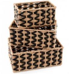 Rectangular Natural Woven Baskets,  28x18cm