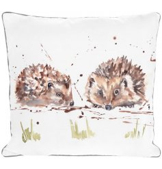 A beautiful Cushion in a Country Life Hedgehog Design