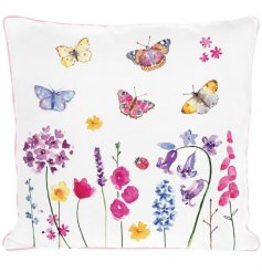 A Butterfly Decorated Garden Cushion