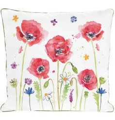 A Beautifully crafted cushion in Poppy Field Design