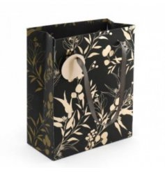 A Stunning Black and Gold Luxe Gift Bag