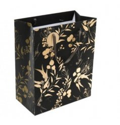 A Lovely Large Gift Bag with Black and Gold Detailing