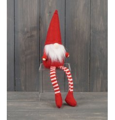 A Charming Small Red Santa Gonk with Dangly Legs