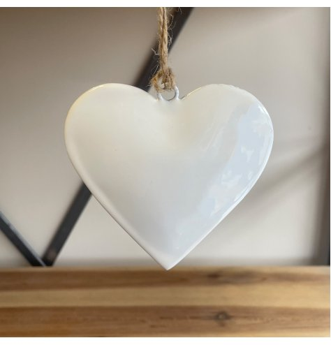 A Sweet and Simple Hanging White Heart
