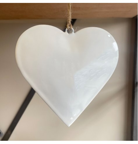 A Classic White Heart Hanging Decoration