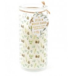 A Festive Scented Glass Tube Candle